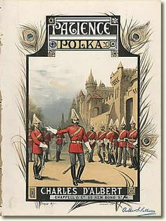"""""""Patience"""" Polka arranged by Charles D'Albert, British sheet music cover, early 1880s"""