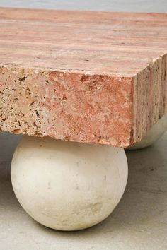 Detail / Rouge Royale Marble Slab Coffee Table