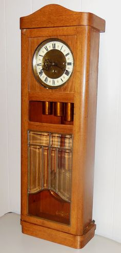 Ant seth thomas regulator no 71 wall clock brass weight pendulum gustav becker 3 three weight vienna regulator antique wall clock oak case fandeluxe Choice Image