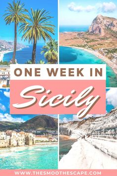In this Sicily travel guide, you'll find the best places to visit in Sicily together with a perfect Sicily itinerary if you just have one week to spend. From beautiful beaches and idyllic villages to hiking Mount Etna and tasting local food. Sicily Travel, Italy Travel Tips, Europe Travel Guide, Europe Destinations, Travel Guides, Croatia Travel, Holiday Destinations, Cool Places To Visit, Places To Travel
