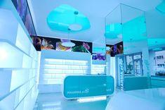 Pharma Plus drug store by H Studio Design Blog, Your Design, Visual Merchandising, Wall Drug, Pharmacy Design, Drugstore Foundation, Retail Store Design, Store Interiors, Branding Materials