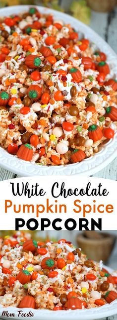 This Pumpkin Spice Popcorn recipe is the perfect b…