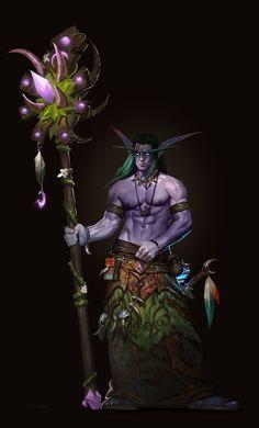 World of Warcraft Character Illustration - Jojo So Art Warcraft, World Of Warcraft Game, World Of Warcraft Characters, Fantasy Characters, Warcraft Legion, Fantasy Character Design, Character Art, Fantasy World, Fantasy Art
