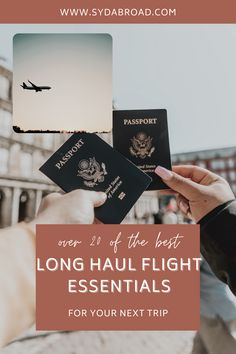 A complete list of the best long haul flight essentials for you to survive your next trip! | long flight essentials | long haul flight tips | jet lag tips | helpful long haul flight essentials | Long flight outfit Travel Essentials List, Travel Checklist, Travel Advice, Travel Info, Air Travel, Travel Hacks, Travel Guide, Travel Items, Travel Gifts