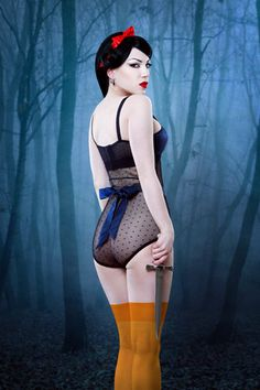 """Blue Jezebel — Kiss Me Deadly    This is from the """"twisted fairytale theme"""", but I love it even if it is a little """"twisted"""" for Snow White!"""