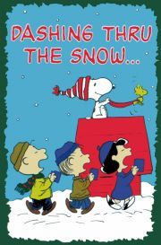 Dashing thru the snow AND CHRISTMAS CAROLS WITH SNOOPY LUCY AND THE GANG