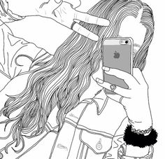 girl drawing black and white Tumblr Girl Drawing, Tumblr Drawings, Tumblr Art, Tumblr Girls, Indie Drawings, Cool Drawings, Drawing Sketches, Basic Drawing, Drawing Art