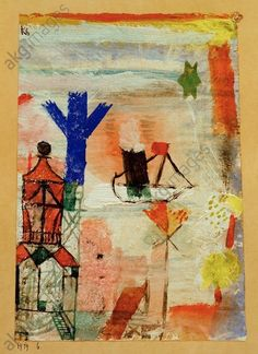 Paul Klee The Literary Piano Giclee Canvas Print Paintings Poster Reproduction C
