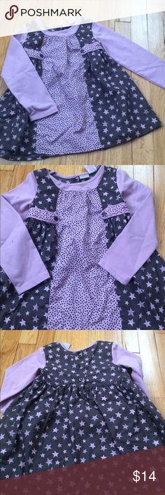 Lydia Jane long sleeve star polka dot dress Last pic is the exact color of the dress. It's lilac and brown. Perfect for spring. Size 4T. Dress is 100% cotton.  Check out my closet for other mini Boden and other great brands that I just added lydia jane Dresses