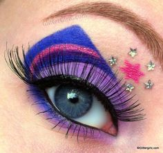 My Little Pony series: Twilight Sparkle Makeup! Pony Makeup, Unicorn Makeup, Kiss Makeup, Makeup Art, Rainbow Dash, Twilight Sparkle Costume, Princess Twilight Sparkle, Sparkle Eye Makeup, Rave Makeup