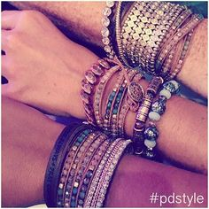 How are you adding our new wrap bracelet {Pop of Posh} to your favorite arm party?  #pdstyle