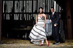 Read all about Kinsey + Luke's Tim Burton wedding on Poptastic Bride. Photo by Christine Reid Photography,