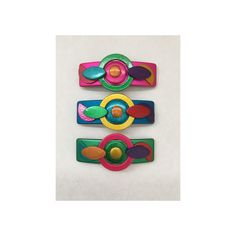 Details about  /Women/'s Girls Vintage Hair Barrette Snap Clip Decorated Patterns Colors Crystals