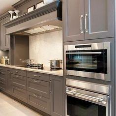 Gray Cabinets, Contemporary, kitchen, Aidan Design
