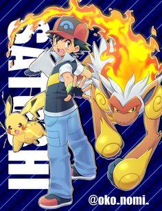 Pokémon Satoshi/Ash By Okonomi00