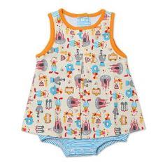 White 18 Months Zutano Baby Girls 2 Elephants Rev Sunshine Top
