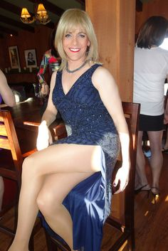 "transformedbeauties: "" vickitv: "" https://www.flickr.com/photos/marie_sunshine/ "" I love slits on dresses. """