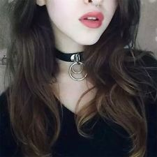 Bohemina Punk Goth Leather Rivet Style Collar Choker Funky Necklace Girls Gifts