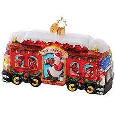 Radko Christmas Carriage B & O Railroad Train Car Christmas Ornament Radko Ornaments, Glass Christmas Ornaments, Train Ornament, Christopher Radko, Christmas Train, Trendy Tree, Train Car, Peppermint, Sweets