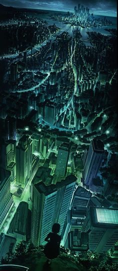Concept City Art Futuristic designs let us peer into the potential world of fantasy and sci-fi. With massive cityscape designs you can imagine what life coul. Fantasy Kunst, Fantasy Art, Digital Art Fantasy, Fantasy Dragon, Anime Fantasy, Anime Body, Anime Pokemon, Drawn Art, Animation Background