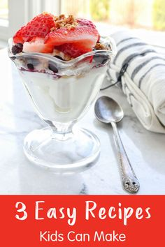 3 Easy Recipes Kids Can Make Themselves - get your kids in the kitchen and let them make one of these 3 easy snacks! Recipes Kids Can Make, Easy Meals For Kids, Fun Easy Recipes, Easy Food To Make, Healthy Snacks For Kids, Easy Snacks, Yummy Snacks, Kids Meals, Snack Recipes