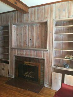 whitewashed knotty pine paneling - Kitchen Paneling Ideas