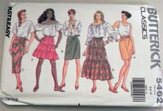 1990s Tapered Tiered and Wrap skirt pattern by retroactivefuture, $7.00