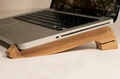A laptop stand made of oak. Handmade.