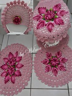 Crochet and Graphs Crochet Diy, Crochet Crafts, Crochet Doilies, Crochet Flowers, Crochet Stitches, Crochet Projects, Crochet Patterns, Crochet Decoration, Crochet Home Decor