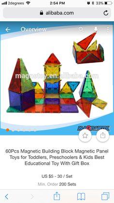 Toddler Toys, Kids Toys, Magnetic Building Blocks, Educational Toys, Preschool, Gifts, Preschools, Presents, Children Toys
