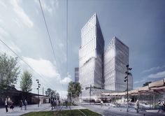 Bustler: A peek at schmidt hammer lassen's winning 87,000 m2 urban masterplan in Oslo