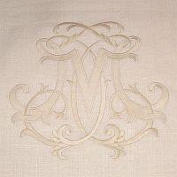 Monogram gallery for stationary/linen ideas