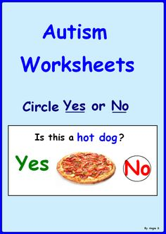 Yes/ No Questions- Autism Worksheets. This is a great activity to target basic yes/no questions, good for students with autism and special needs. #Autism For more great resources follow https://www.pinterest.com/angelajuvic/autism-special-education-resources-angie-s-tpt-sto/