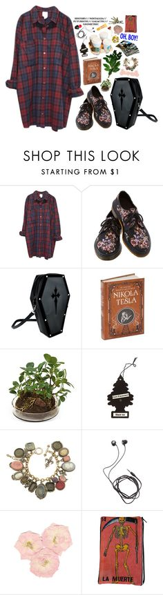 """How people get their kicks"" by taryn-ash ❤ liked on Polyvore featuring Monki, Dr. Martens, Distinctive Designs, Diane Von Furstenberg, Burt's Bees and 55"
