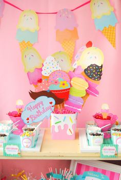 Items similar to Ice Cream Party Centerpiece- Centerpiece Holder- Ice Cream Birthday- Icecream Party- Ice Cream Baby Shower- Ice Cream First Birthday on Etsy First Birthday Parties, Birthday Party Themes, 2nd Birthday, First Birthdays, Birthday Ideas, Ice Cream Theme, Ice Cream Party, Candy Party, Party Centerpieces