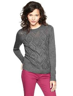 Cable sweater <<< EVERY color.