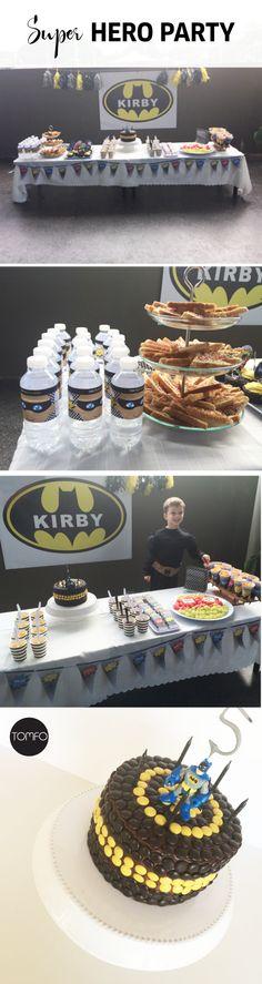 Ideas for a DIY kids superhero party - Batman themed party