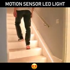 There's no place like home LED Motion Sensor Waterproof Light Belt Brand name clothing online deals Staircase Lighting Ideas, Staircase Design, Home Lighting, Lighting Design, Led Kitchen Lighting, Islamic Architecture, Home Decor Signs, Light Sensor, Room Lights
