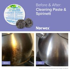 The Norwex Cleaning Paste is an environmentally friendly paste that works with a damp EnviroCloth™ to clean, polish and protect chrome, stainless steel*, porcelain and similar surfaces in one application. Safe for use on coffee pots, glasses and most food-ware products. Works great on bathroom tubs and tile, too!