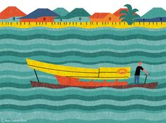 Ryo Takemasa - Editorial illustrations for the feature on Sarawak in the supplement of Monocle magazine, issue 76.