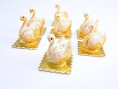 French cream filled pastry swans