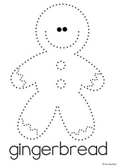 December Pinning Pages - A Fine Motor Resource Packet -November and December Pinning Pages - A Fine Motor Resource Packet - trace-gingerbread-worksheet-for-kindergarten Printable Christmas Picture and Word Tracing - Rudolph. Gingerbread Man Activities, Christmas Activities, Gingerbread Man Crafts, Preschool Christmas Crafts, Holiday Crafts, Christmas Themes, Kids Christmas, Christmas Printables, Christmas Candy