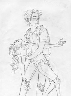 "Next to me, Annabeth's knees buckled. I caught her, but she cried out in pain, and I realized I'd grabbed her broken arm.  ""Oh gods,"" I said. ""Annabeth, I'm sorry."" ""It's alright,"" she said as the passed out in my arms. ""She needs help!"" I yelled."