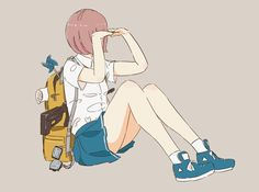 twitter @daisukerichard Aesthetic Art, Aesthetic Anime, Art Sketches, Art Drawings, Anime Boy Zeichnung, Anime Friendship, Fanarts Anime, People Art, Anime Art Girl