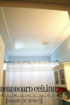 great idea for fixing up an old house that needs ceiling repairs