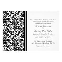 Black and white Damask Wedding