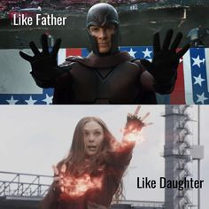 Like Father, Like Daughter | Magneto and Scarlet witch |