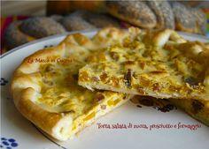 Torta di zucca, prosciutto e formaggio