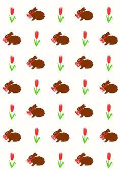 Free digital spring bunny scrapbooking paper - ausdruckbares Geschenkpapier - freebie | MeinLilaPark – DIY printables and downloads