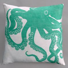 Dermond Peterson Octopus Throw Pillow